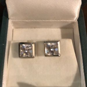 Michael KORS pave crystal square earring set